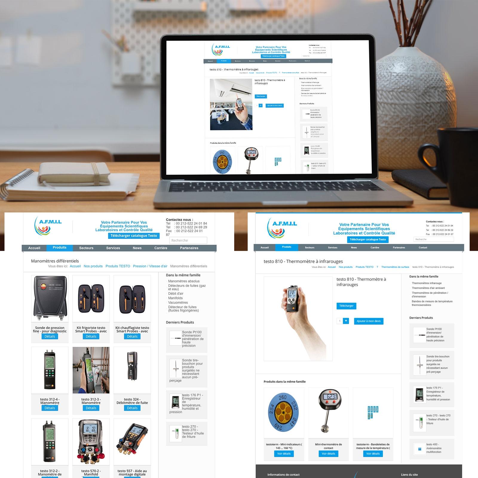 Création de Site Web Catalogue AFMIL