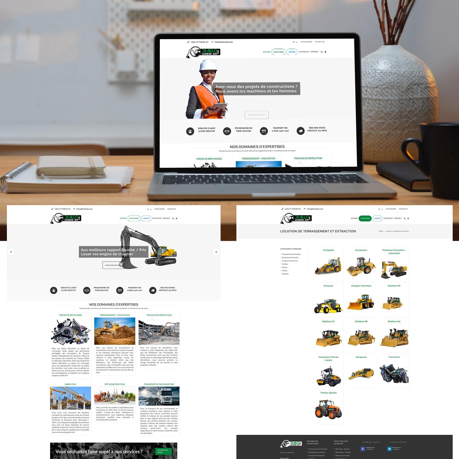 Création d'un Site Web E-Commerce Diallo Btp