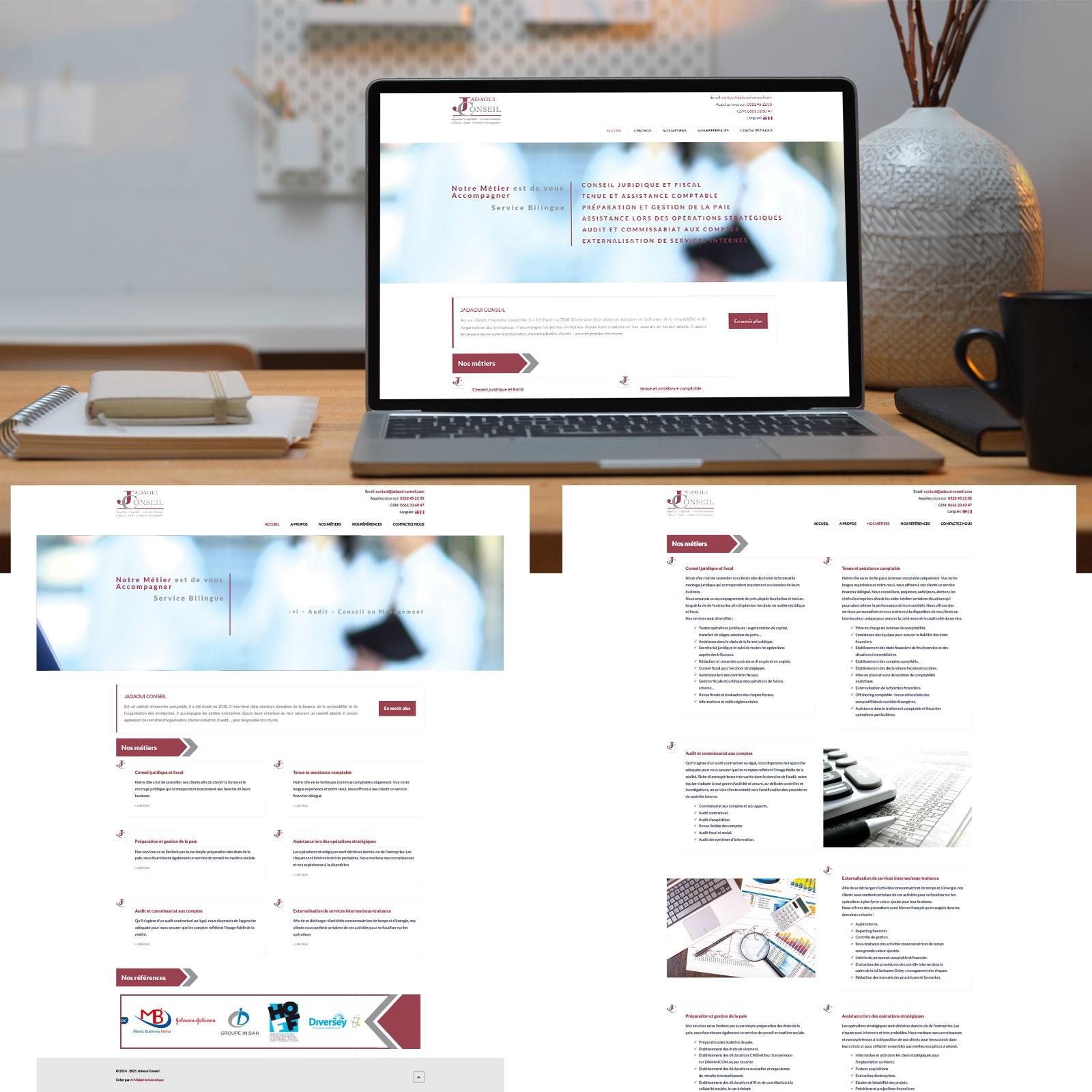 Création de Site Web Vitrine Jadaoui Conseil