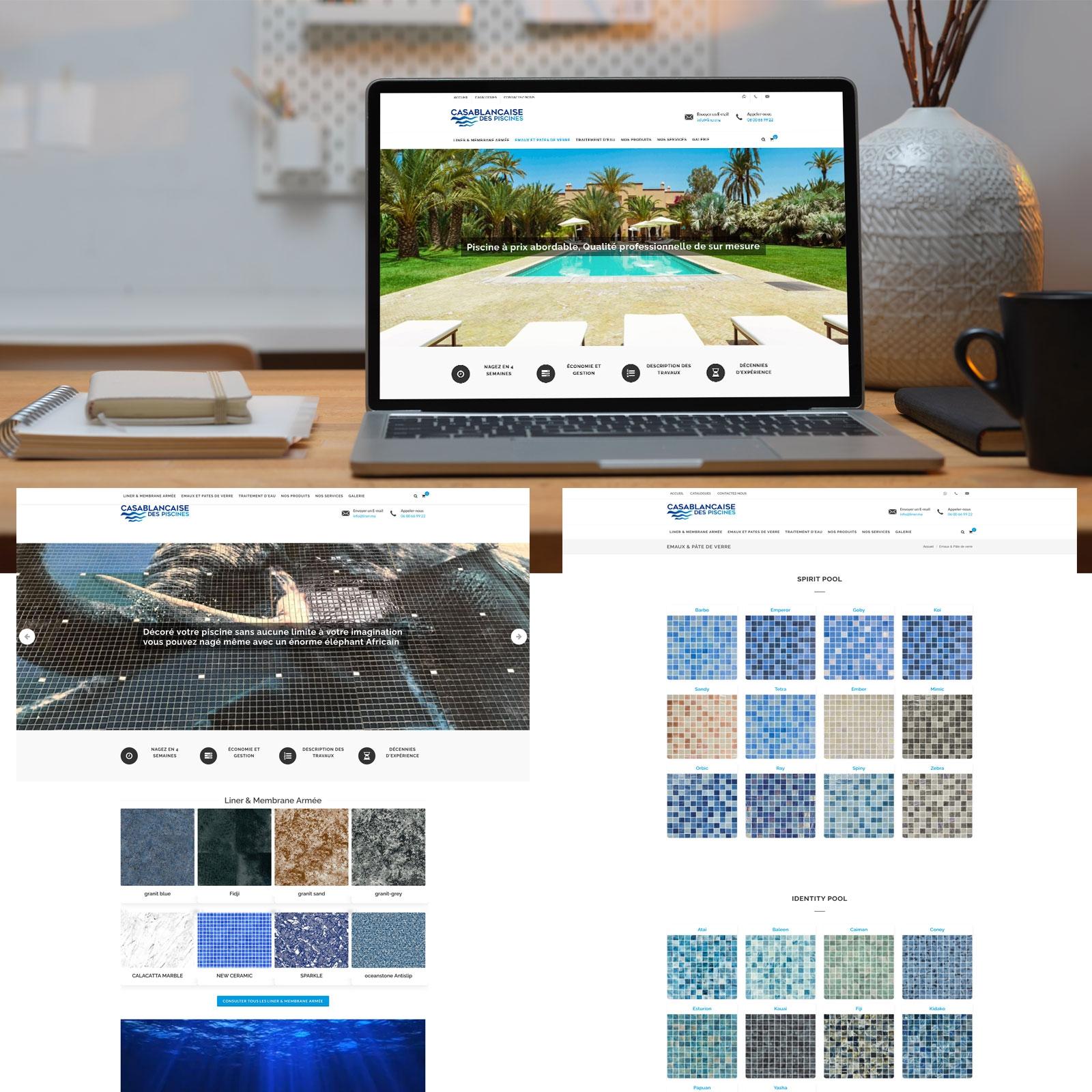 Création de site web Catalogue Casablancaise des Piscines